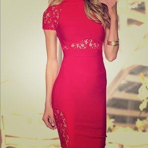 NWT beautiful red slimming dress from Venus